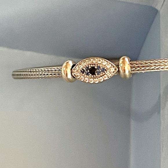 Evil-eye Sterling Silver Cuff Bracelet